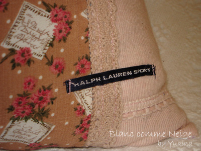 cushion cover/pink
