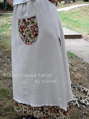 skirt/linen blend